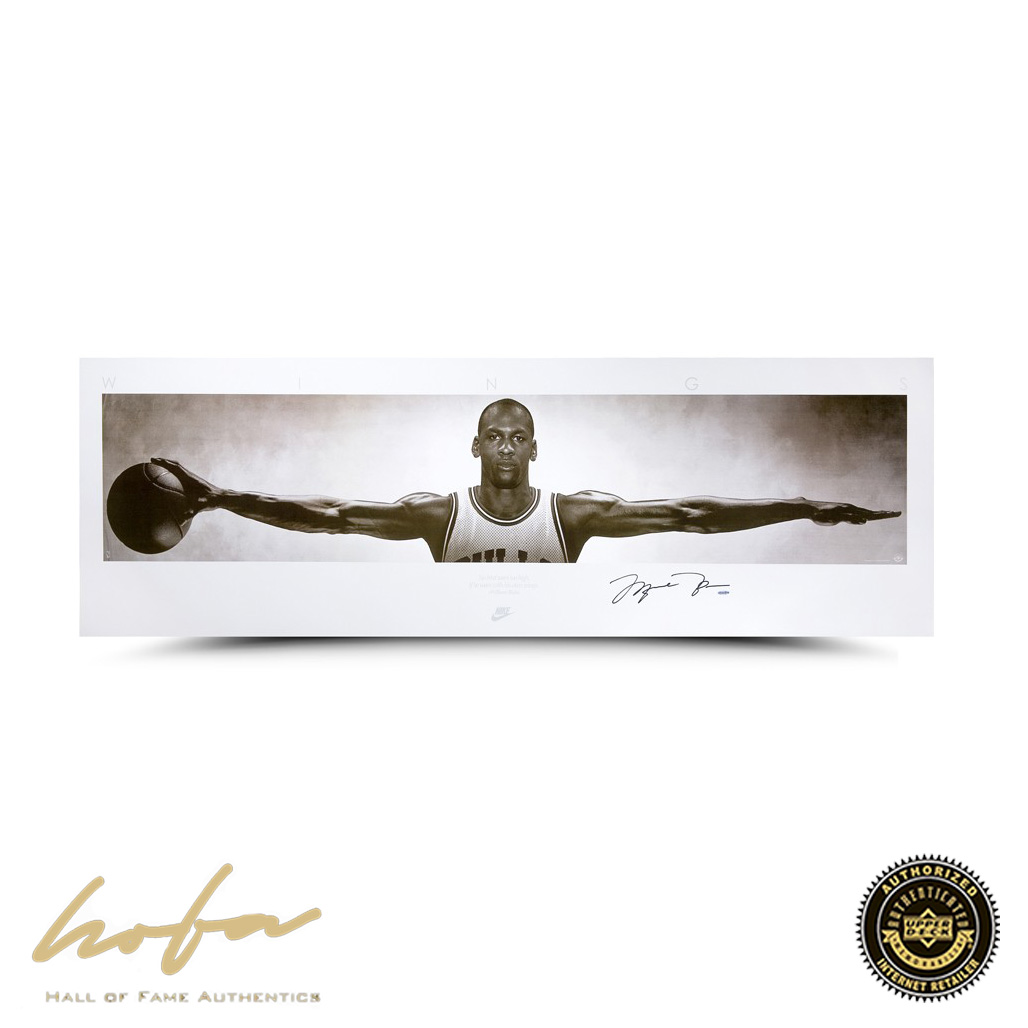Michael jordan wings framed poster unsigned